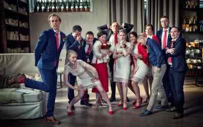 Bruidsfotografie familie foto's; iets anders