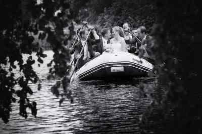 trouwfoto bruid bruidegom huwelijksbootje