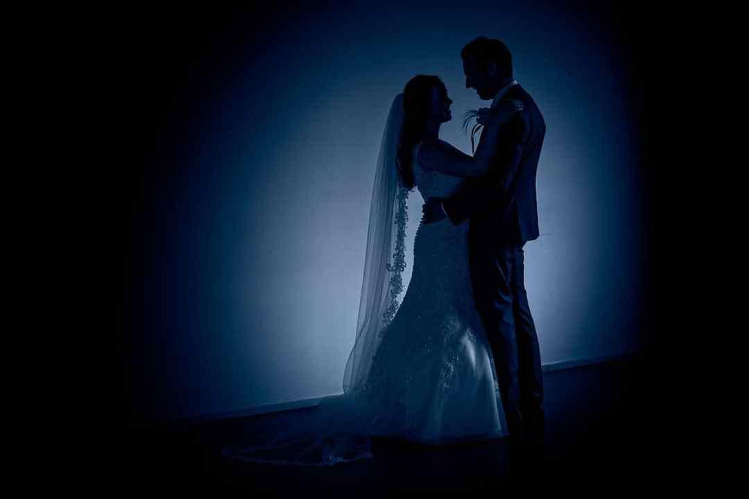 silhouet trouwfoto's