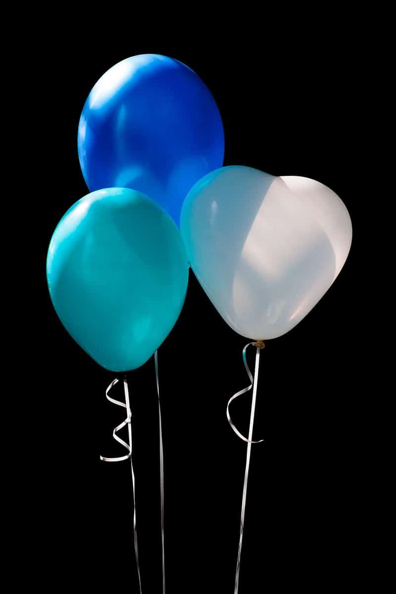 trouwfoto ballonnen