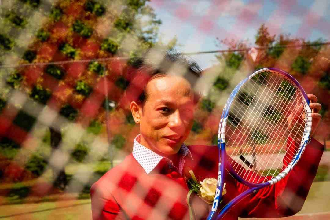 trouwreportage tennisbaan