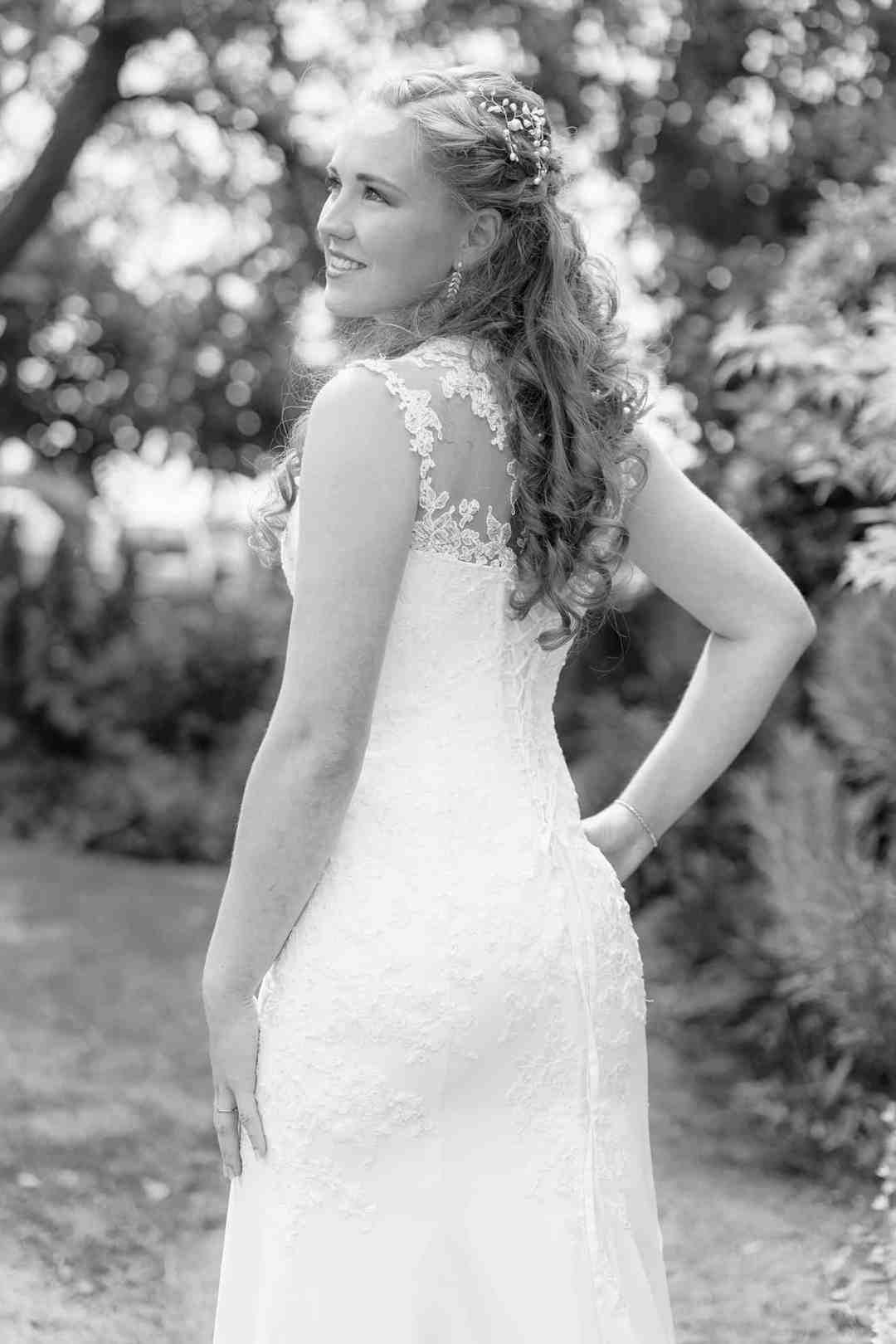 mini fotoshoot bruid