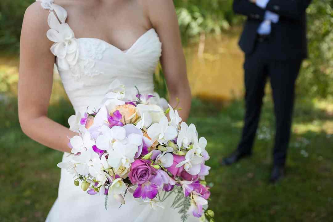Bruidsfotografie bruidsboeket