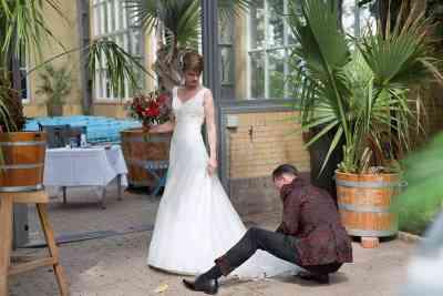 Hortus Amsterdam bruidsfotografie trouwfoto's