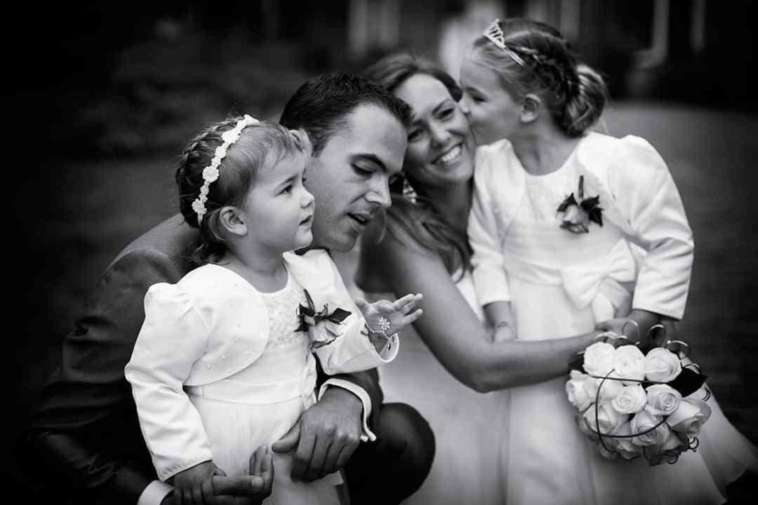 gezin trouwfoto bruidsfotografie