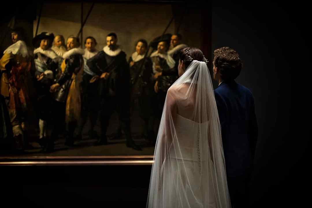 trouwfoto Rijksmuseum Amsterdam