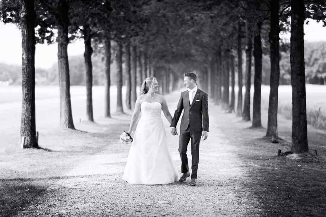 fotoshoot bruidspaar trouwdag