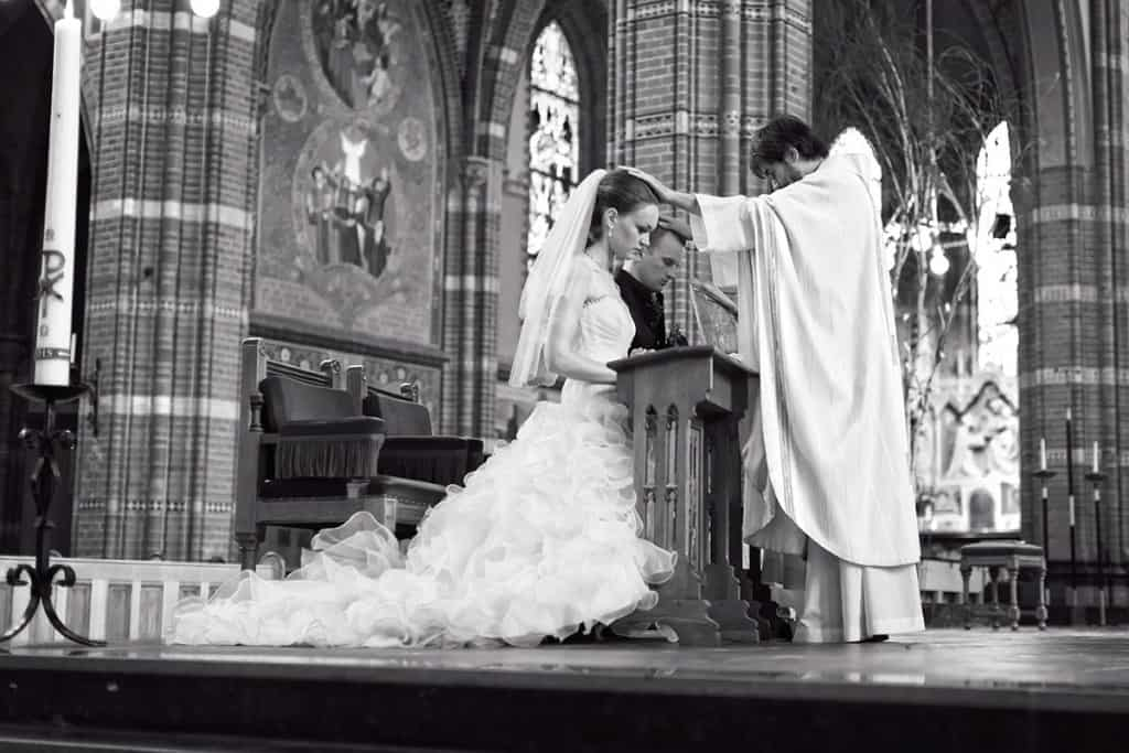 kerk bruidsfotografie
