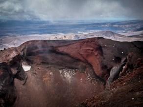 De grillige vormen van de Rode Krater