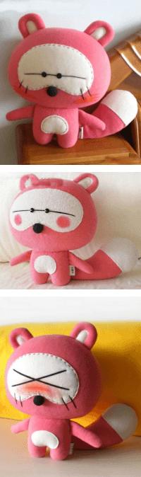 cute felt raccoon doll