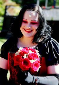 goth and gothic wedding