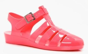 jelly shoe boohoo pink