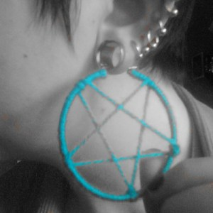 pentacle earrings tutorial