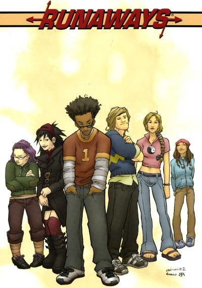 runaways comic cover