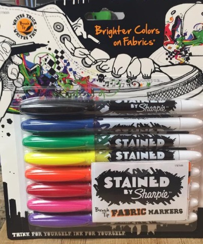 sharpies fabric markers on leather