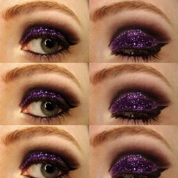 smoky glitter eye makeup tutorial