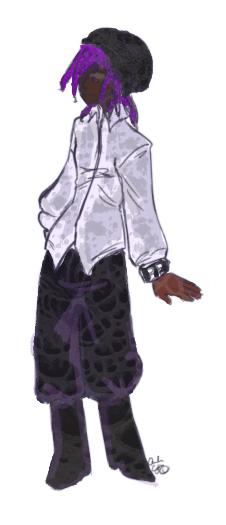 androgynous masculine gothic fashion