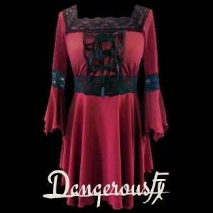 gothic-red-renaissance-raven-corset-lace-top