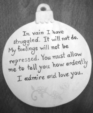 literary christmas decorations quotes