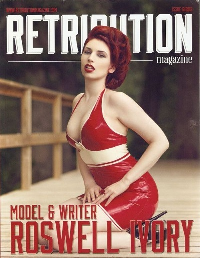 Alternative fashion model Roswell Ivory