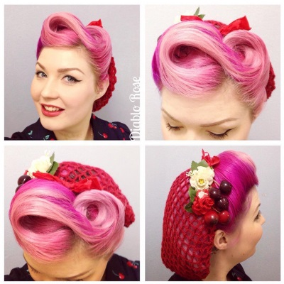 Diablo Rose - vintage hair snood