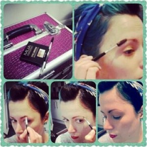 How to draw perfect vintage pinup eyebrows