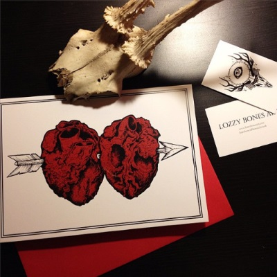 unusual valentine's day cards - Lozzy Bones