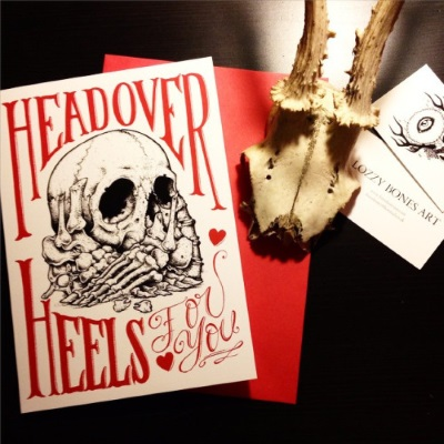Discover the unusual Valentine's Day cards of Lozzy Bones