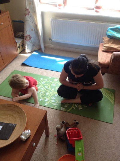 yoga with toddlers