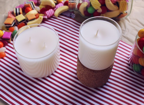 Candle craft - How to make DIY soy candles with a lollipop scent