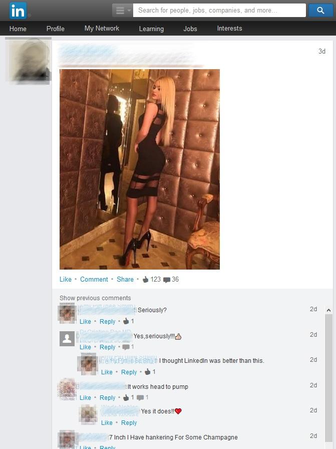 sexism on linkedin