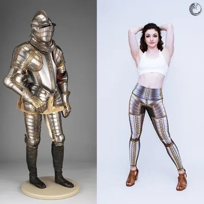 Medieval armour leggings