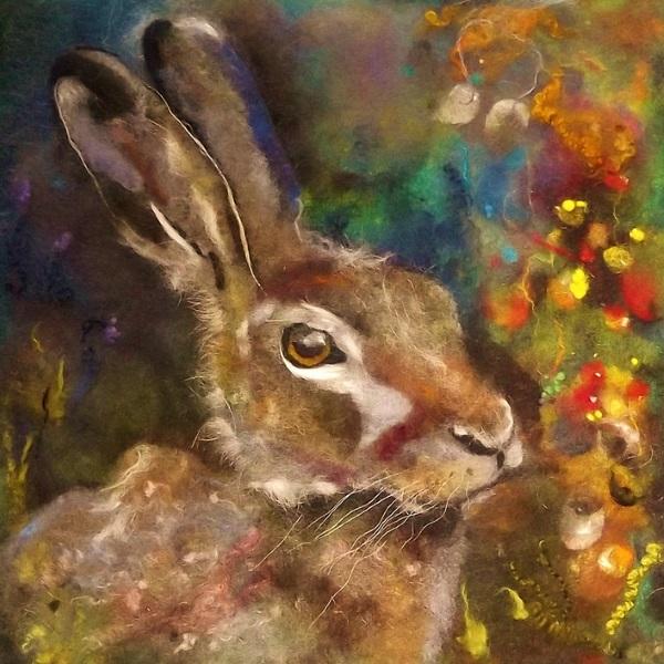Wool Art Autumn Hare