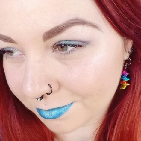 vegan blue lipstick - hypnosis-asphyxiate - impulse cosmetics - chris