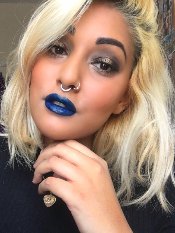 vegan blue lipstick smoking gun - impulse cosmetics - ram