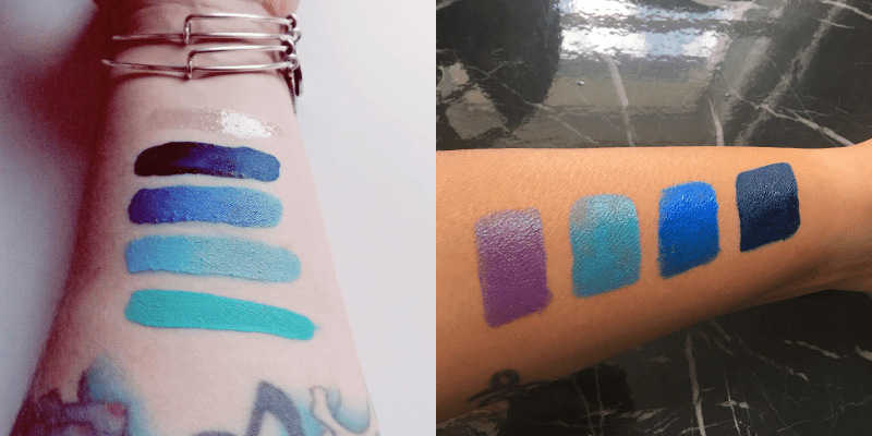 vegan blue lipsticks light dark skin tones Impulse Cosmetics