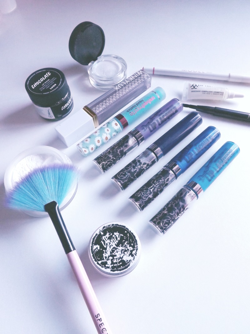 vegan blue lipsticks products used