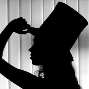silhouette photo