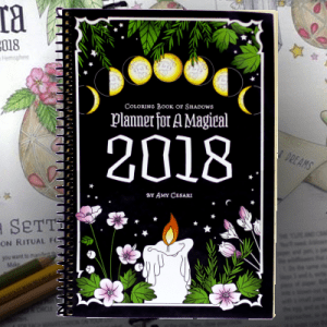 coloring book of shadows planner 2018