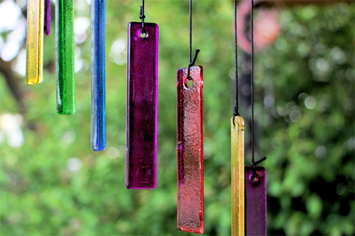 outdoor meditation space chimes