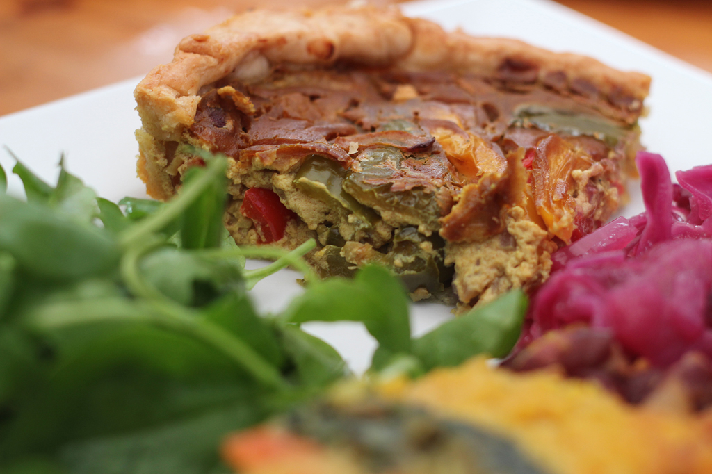 Vegan Christmas recipes - Tofu Frittata with Red Cabbage
