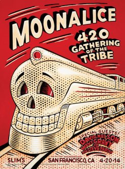 M694 › 4/20/14 420 Gathering of the Tribe at Slim's, San Francisco, CA poster by Dennis Larkins