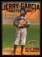 M740 › 8/12/14 Jerry Garcia Tribute Night at AT&T Park, San Francisco, CA (Ballpark Edition) poster by Chris Shaw