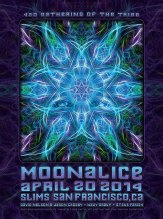 M689 › 4/20/14 420 Gathering of the Tribe at Slim's, San Francisco, CA poster by Dave Hunter