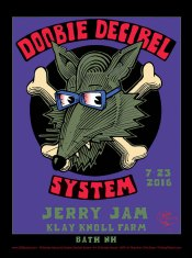 R79 › 7/23/16 Jerry Jam Festival, Bath, NH poster by Stanley Mouse