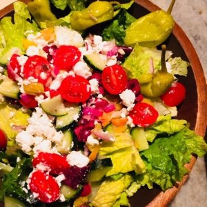 moondance gluten free, gluten free, greek salad
