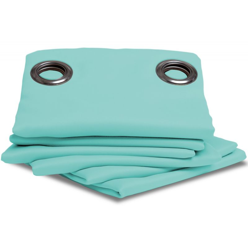 rideau occultant uni bleu turquoise rideaux moondream