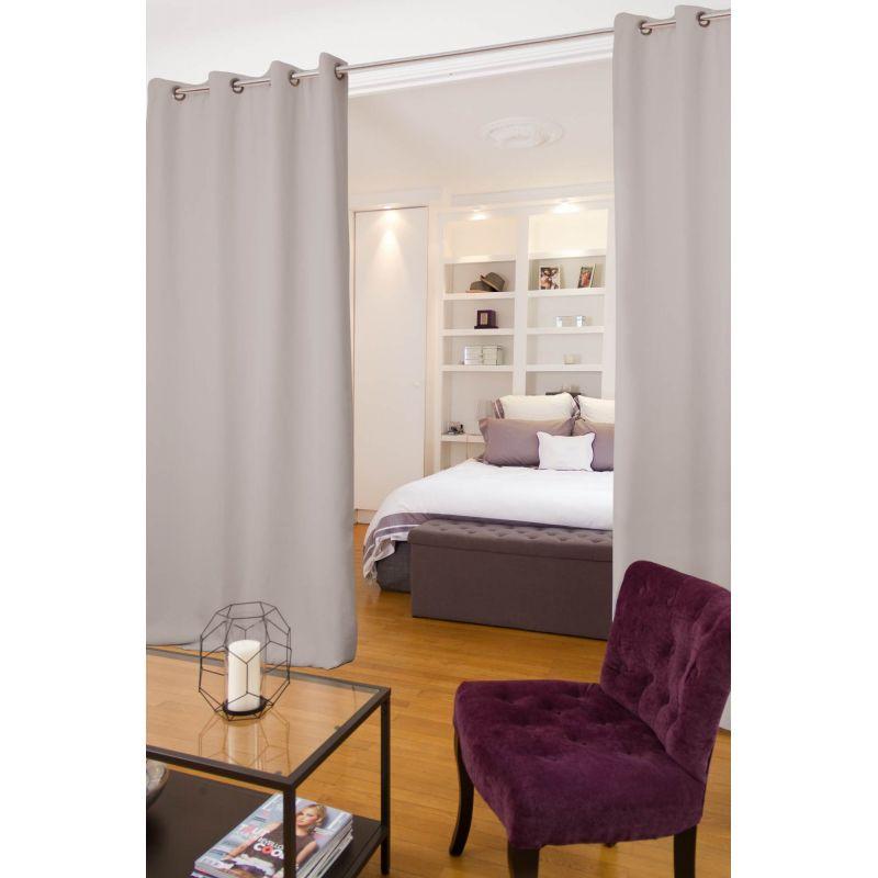 light grey soundproof room divider