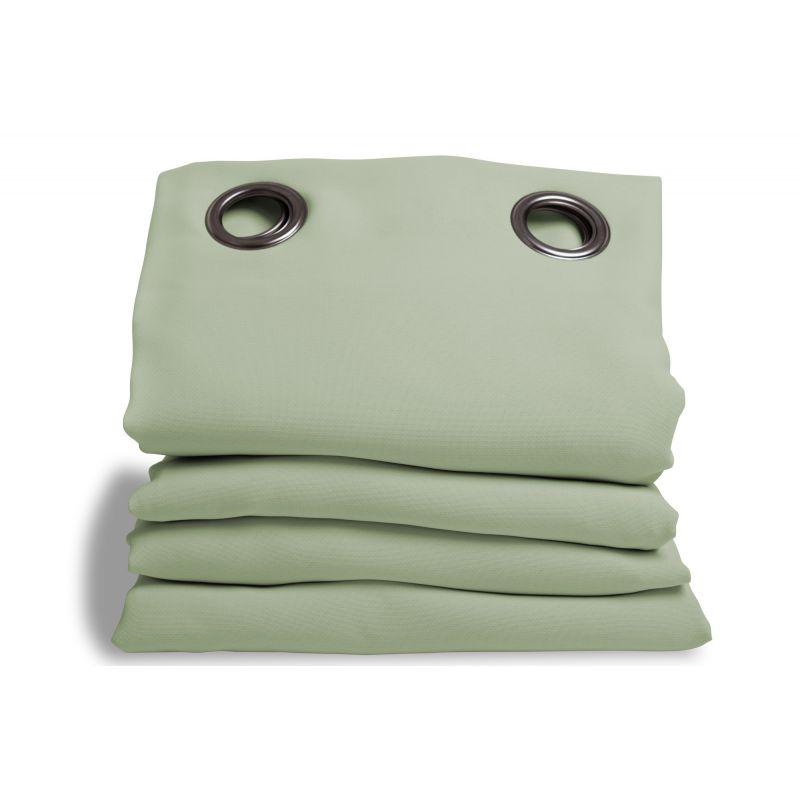 rideau phonique performance plus vert amande rideaux moondream