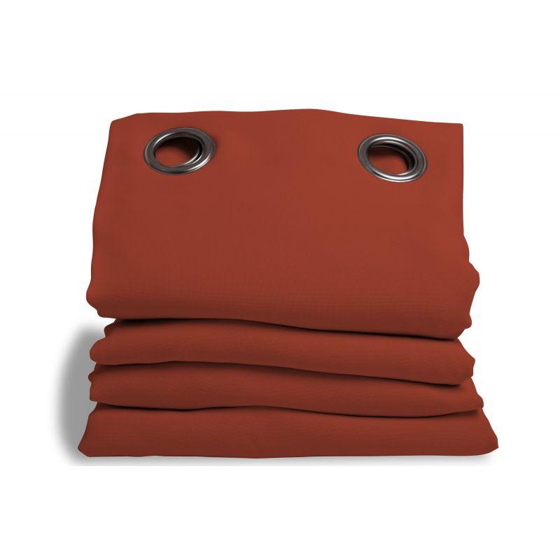 rideau phonique performance plus orange rouille rideaux moondream